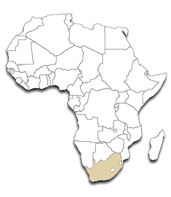 Africa outline Map South Africa