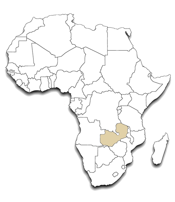 Africa outline Map ZAMBIA