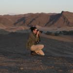 Daniela Cordova taking photos in Namibia